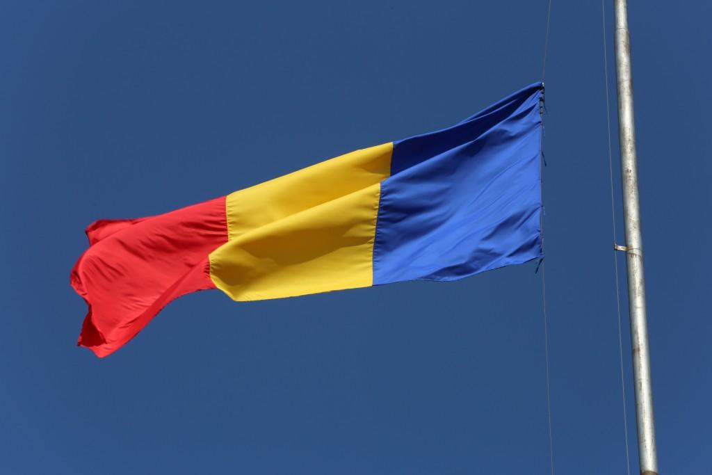 Ceremonia publică de înălțare a drapelului României din Piața Tricolorului
