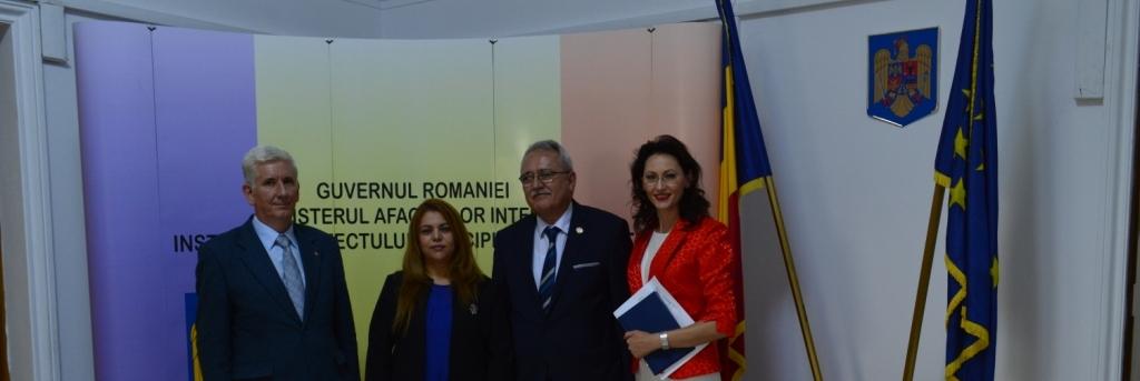 Întrevederea Domnului Subprefect CORNELIU CÎRSTEA cu Ambasadorul Republicii Tunisiene în România,